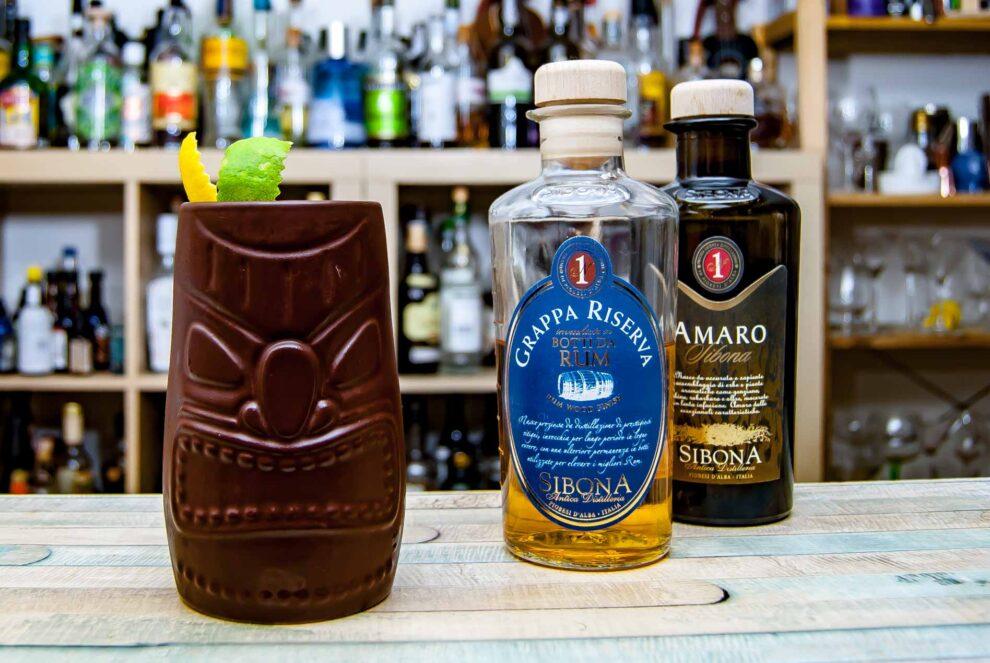 Siboni Botti da Rum Grappa und Amaro im Piemontiki.