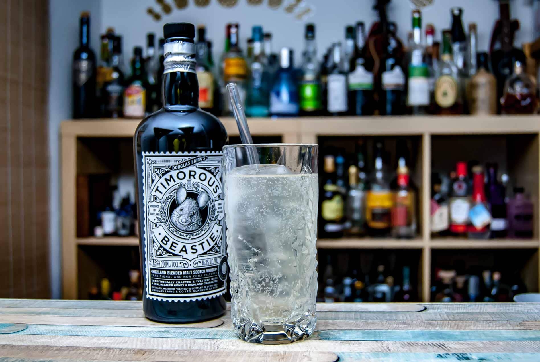 Timorous Beastie Blended Highland Scotch im Whisky Soda.