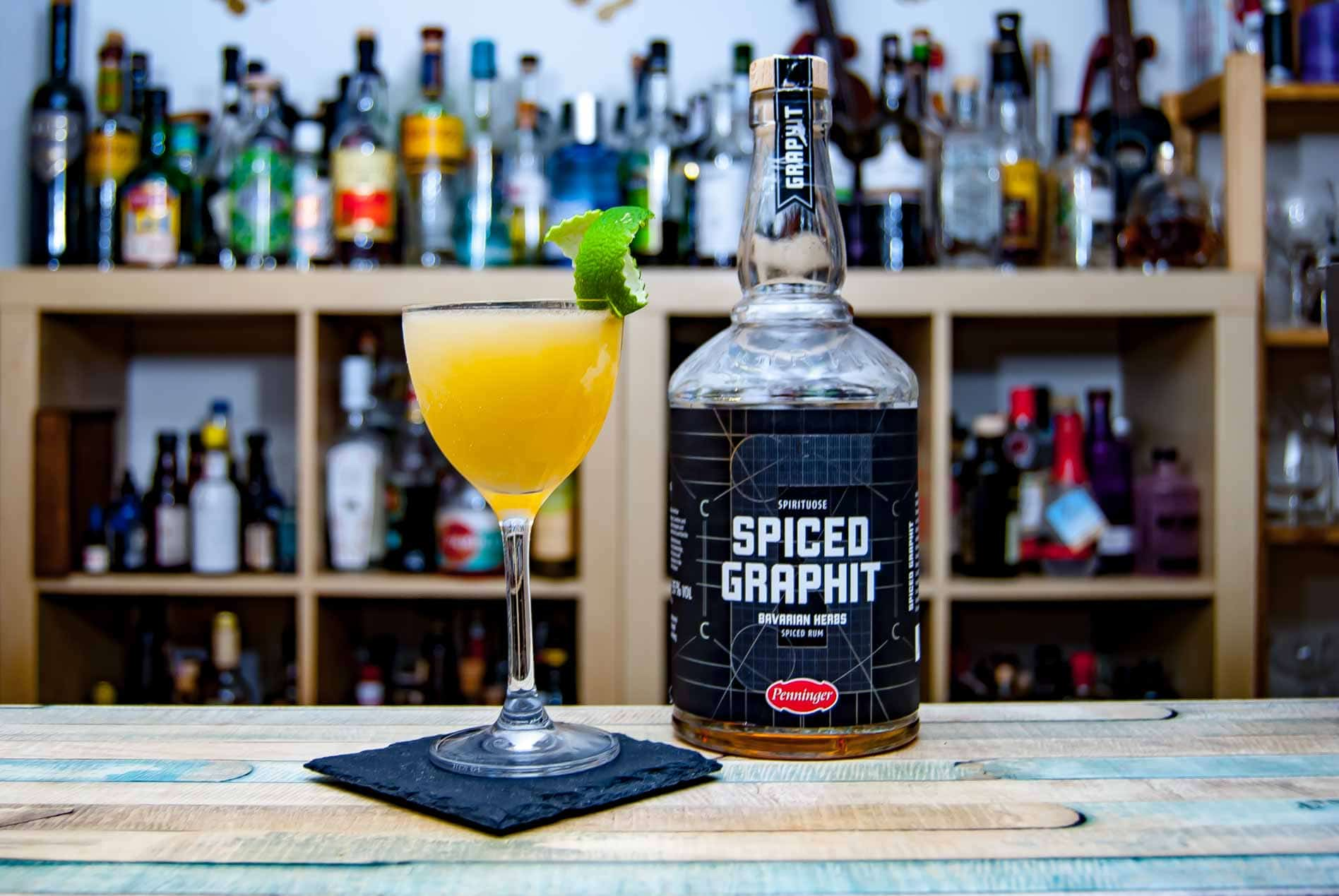 Penninger Graphit Spiced in unserem Daiquiri-Twist Battle of the herbs.