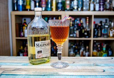 Malpaso Pisco im Dragon's Club Cocktail.