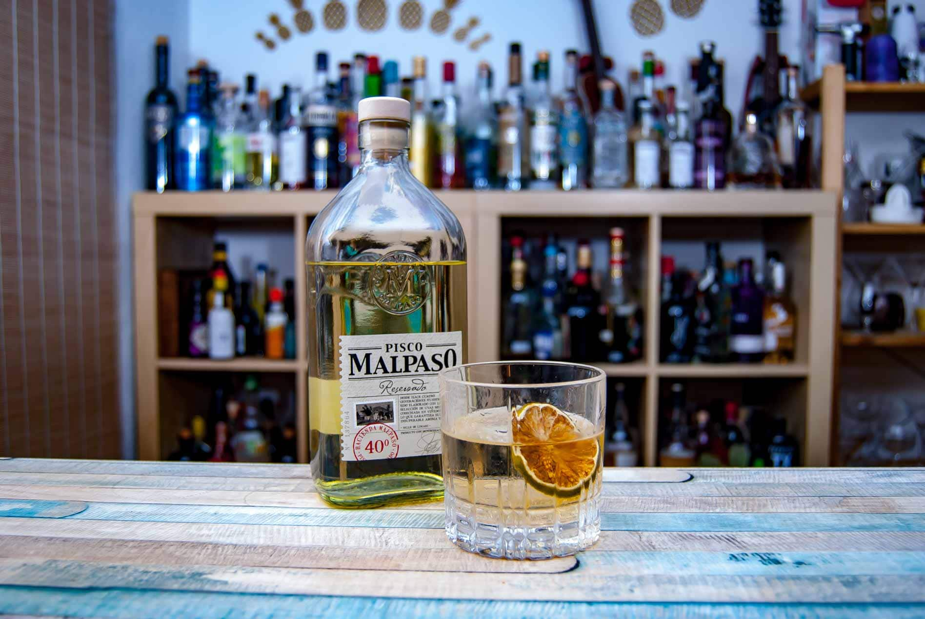 Malpaso Pisco Reservado im Old Fashioned.