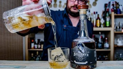 Bellamy's Reserve Rum Perola 10th Anniversary Edition im Pandemonium Cocktail.