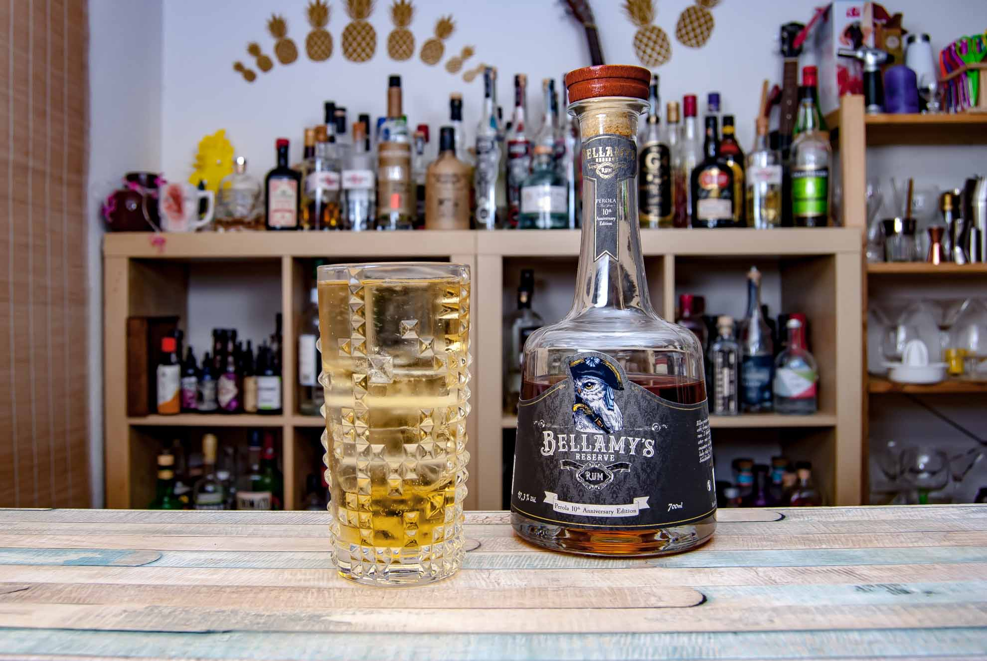 Bellamy's Reserve Rum Perola 10th Anniversary Edition im Rum & Soda.