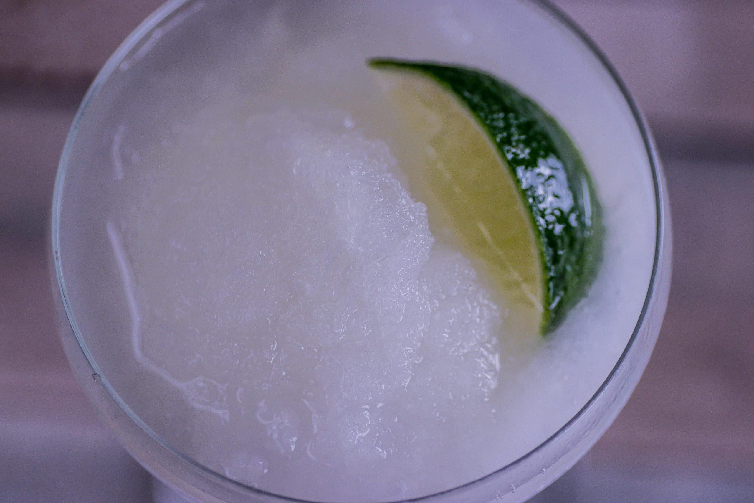 Frozen Margarita-Cocktail von oben.
