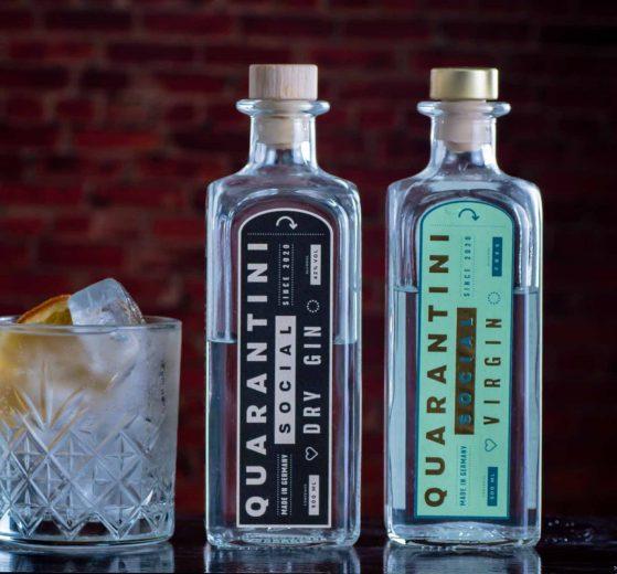 Quarantini Social Dry Gin und Quarantini Virgin.