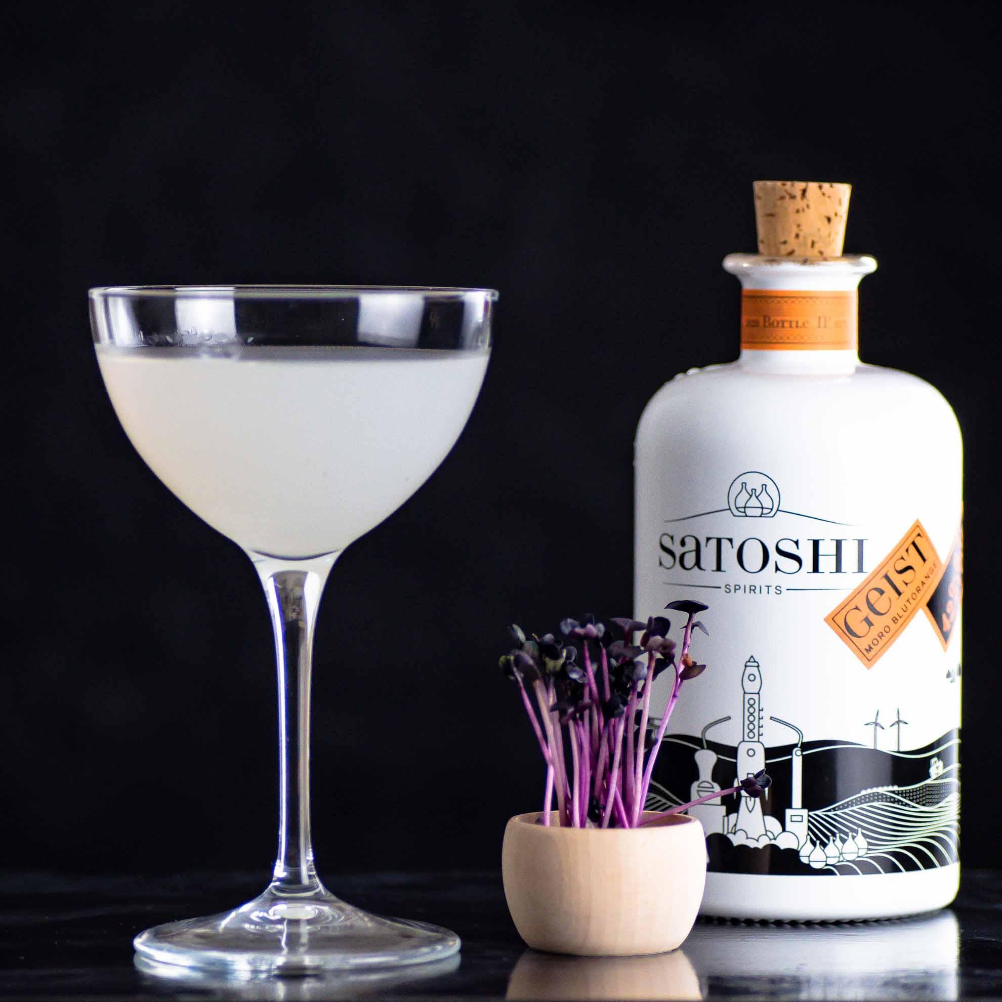 Ein Satoshi New England Martini.