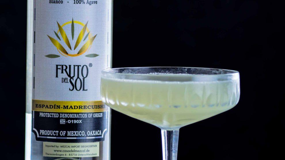 Fruto del Sol Mezcal in einer Margarita.