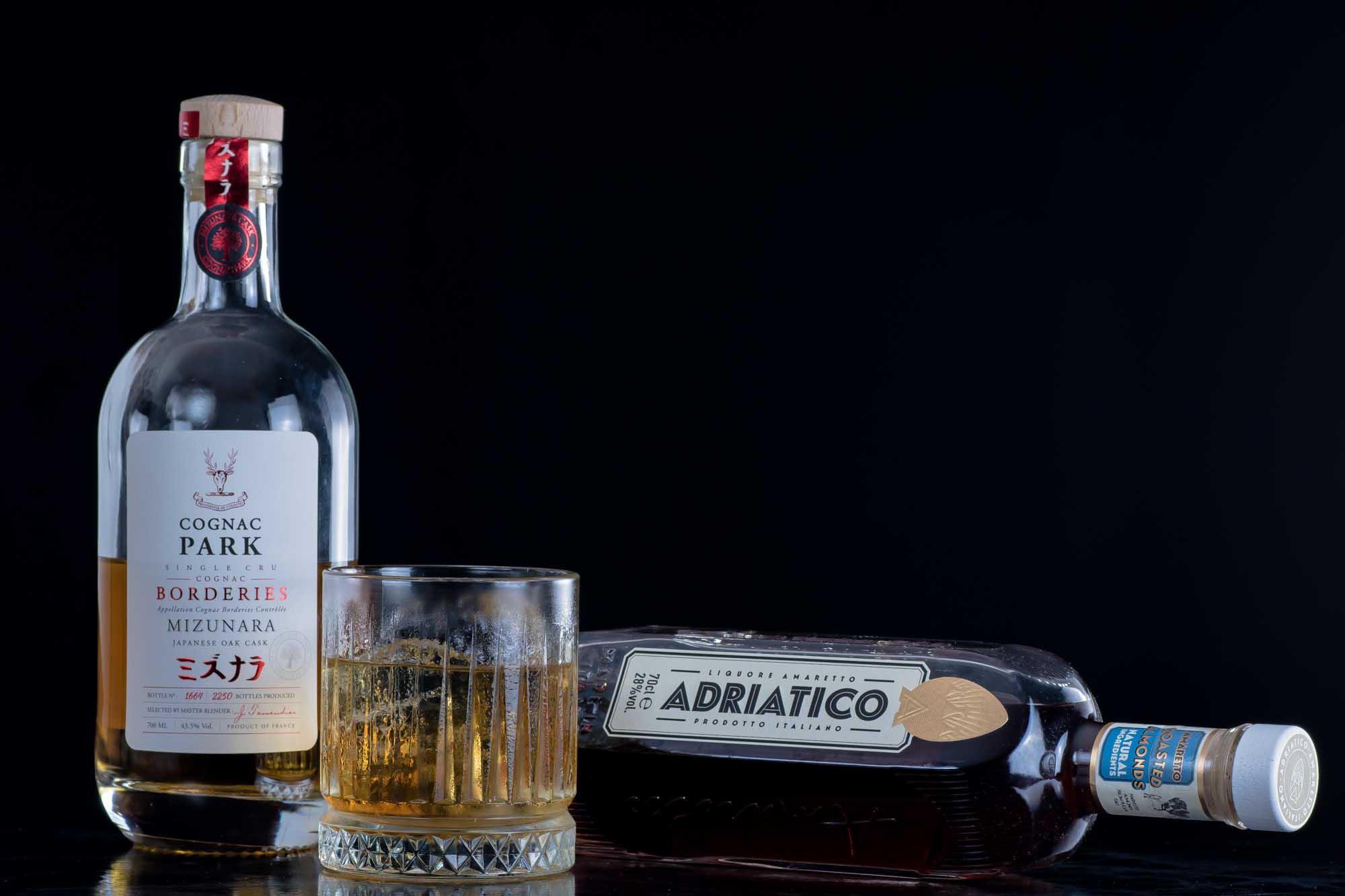 French Connection mit Adriatico Amaretto und Cognac aus dem Mizunara Cask.